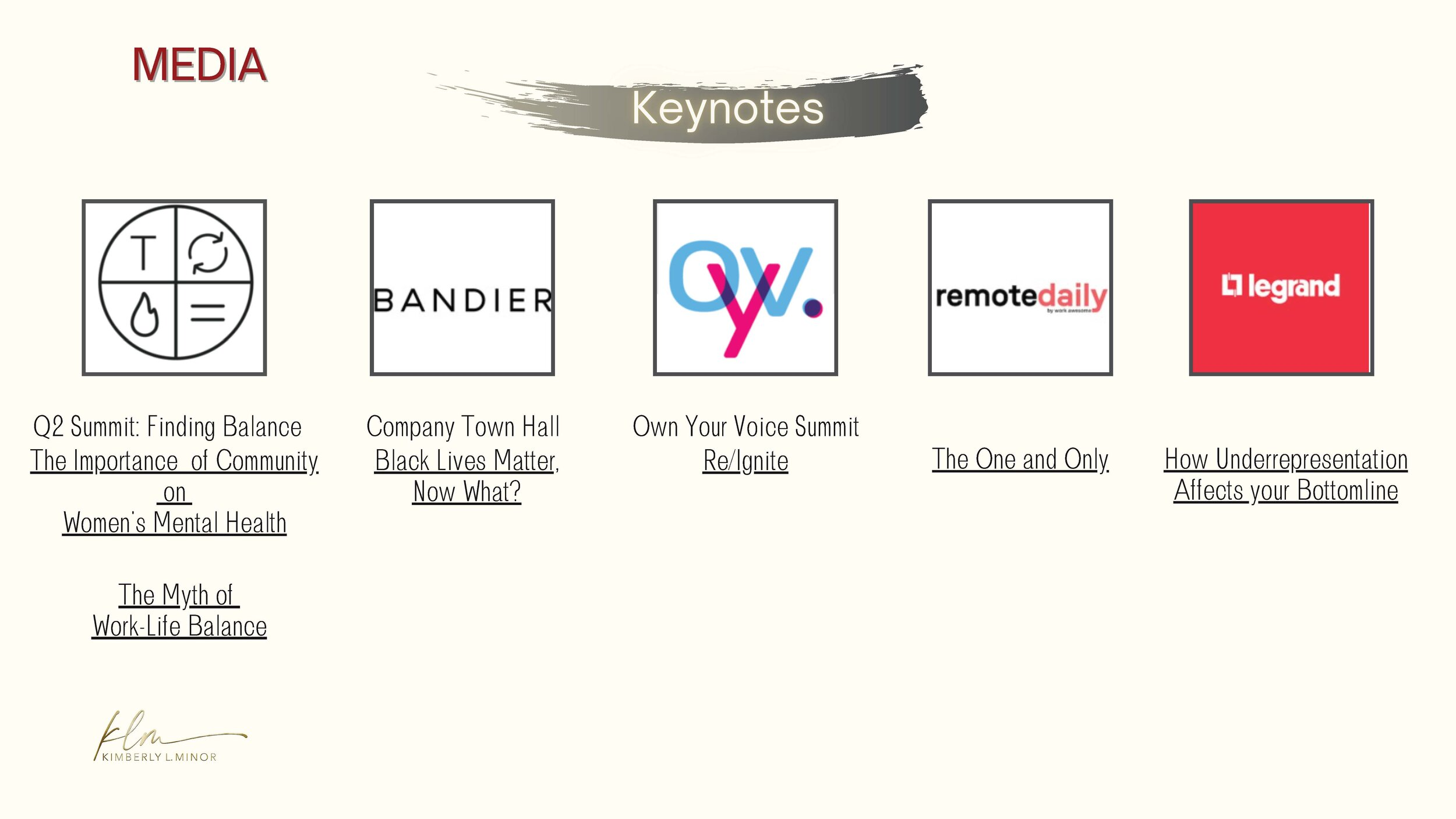 Media keynote logo list